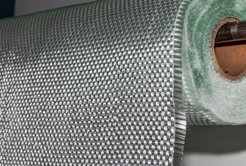Fiberglass fabric composite roll material. FMR Industry royalty free stock photos