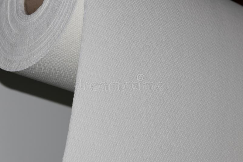Fiberglass fabric composite roll material. FMR Industry royalty free stock photography