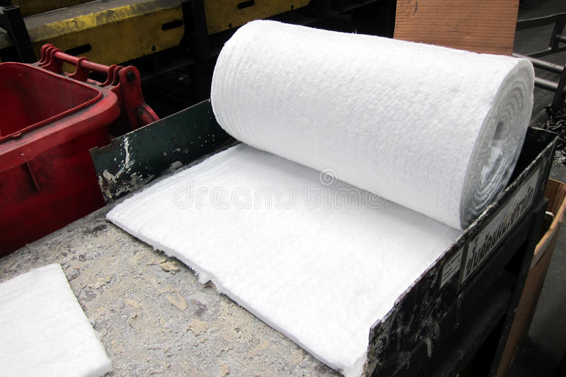 Fiberglass paper. Inside casting process, Foundry industry stock images