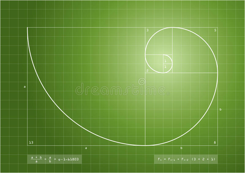 Download Fibonacci Sequence - Golden Spiral Stock Photo - Image: 29677232