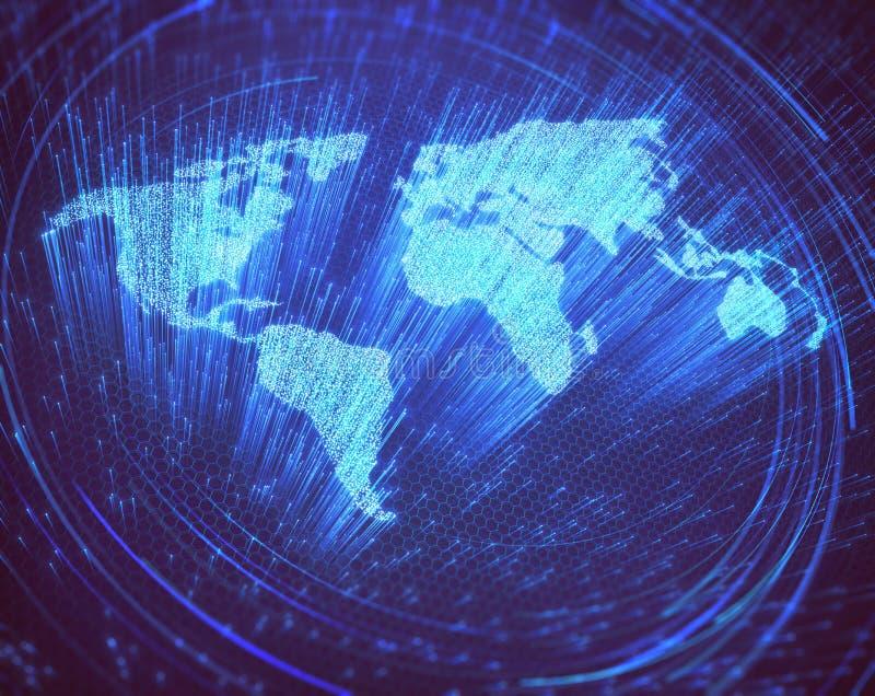 Fibra óptica del mundo stock de ilustración