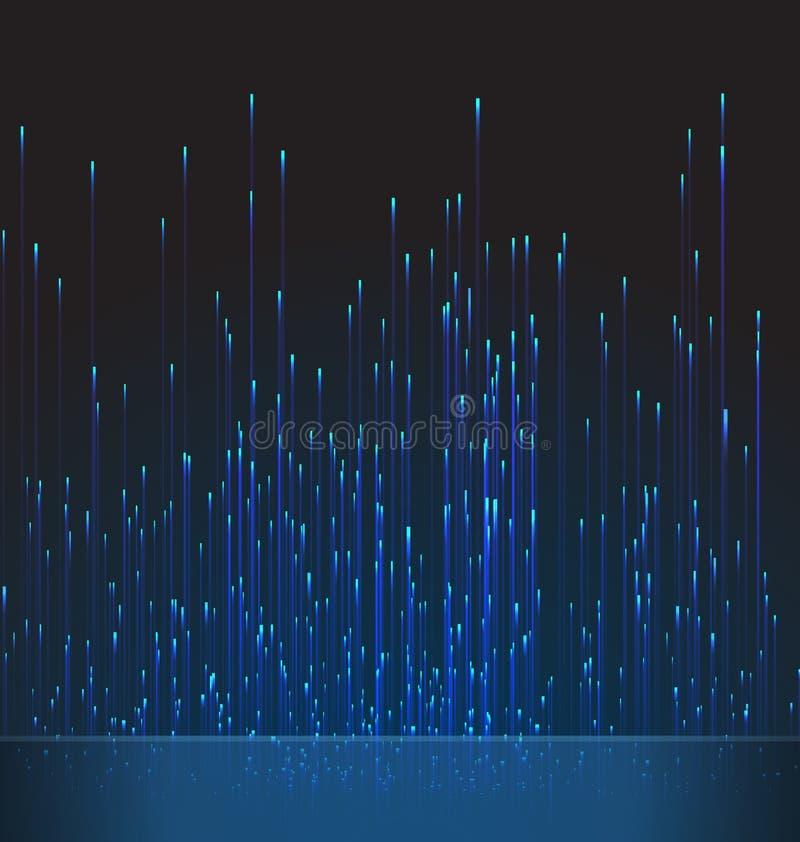 Fibra ótica abstrata Trace Blue Signal do fundo ilustração do vetor