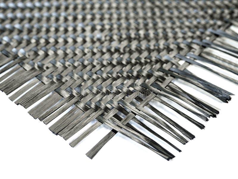 Fibra composita del carbonio nano nel modello del tessuto fotografie stock