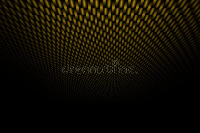 Fibra de carbono amarilla de la curva en la sombra negra libre illustration