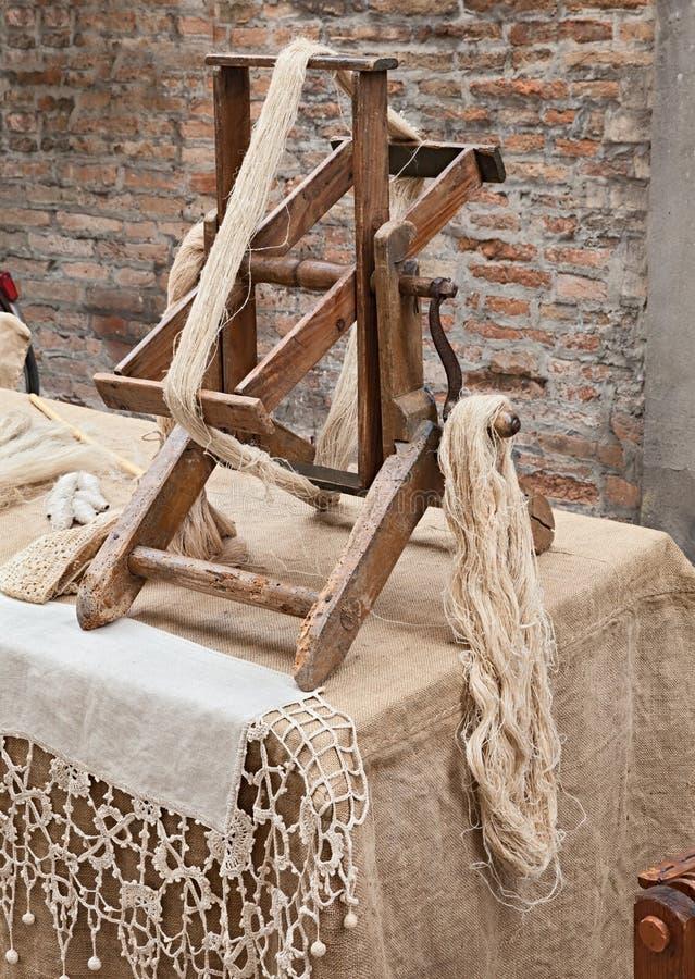 Fibra de giro do cânhamo fotografia de stock