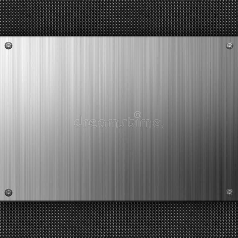Fibra do carbono do aço inoxidável ilustração stock