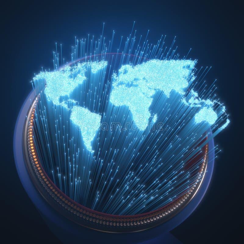Fibra ottica del mondo illustrazione vettoriale