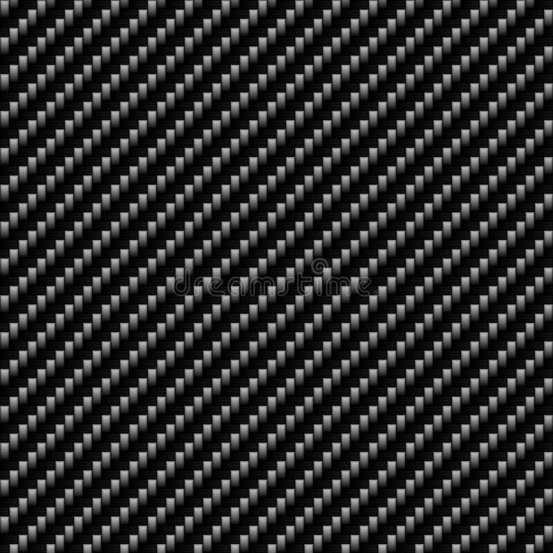 Fibra verdadera del carbón ilustración del vector