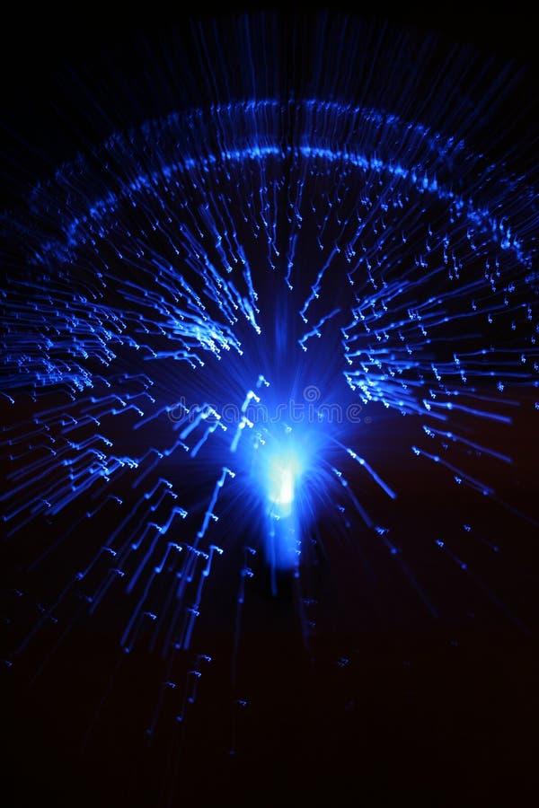 Fibras ópticas azuis imagem de stock royalty free