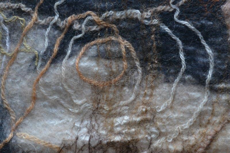 Fibras blancas de las lanas limitadas con negro de las lanas imagen de archivo