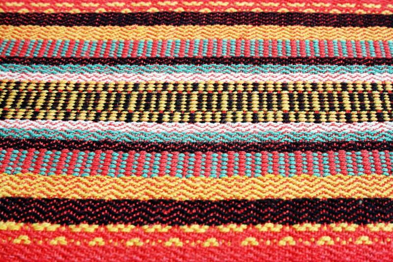 Fibras tejidas coloridas fotos de archivo