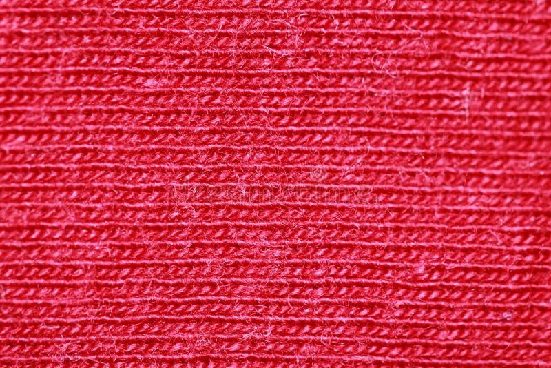 Fibras vermelhas do algodão foto de stock royalty free