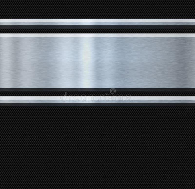 Fibre d'acier inoxydable et de carbone illustration de vecteur