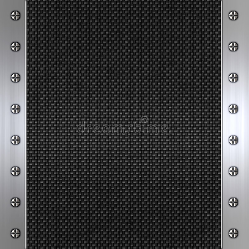 Fibre de carbone et fond d'acier illustration stock