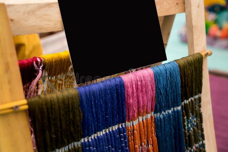 Fibre di seta tailandesi con derisione su per fondo immagini stock