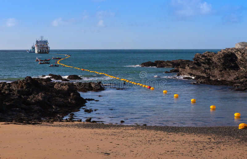 Download Fibre Optic Cable Coming Ashore Stock Photo - Image: 28075248