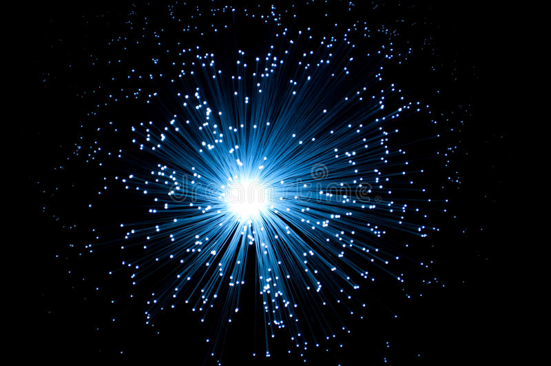 Fibre optic light royalty free stock image