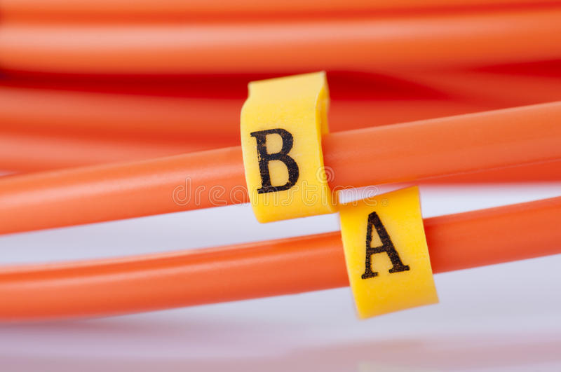 Fibre Optic Network Cables stock images