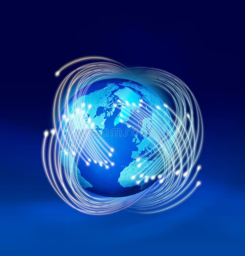 Fibre ottiche intorno alla terra del pianeta