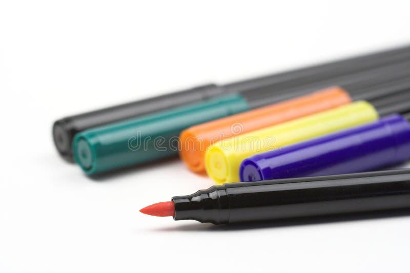 Download Fibre pens stock photo. Image of education, macro, drawing - 11775546