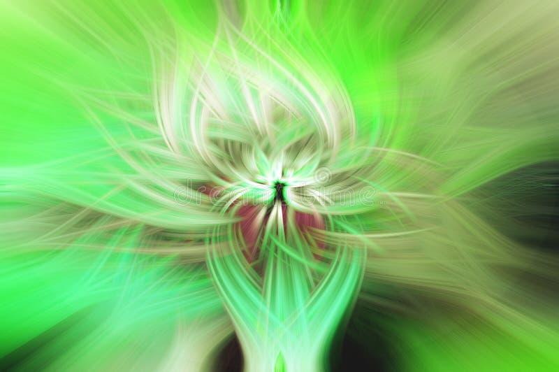 Fibres légères tordues par vert illustration stock