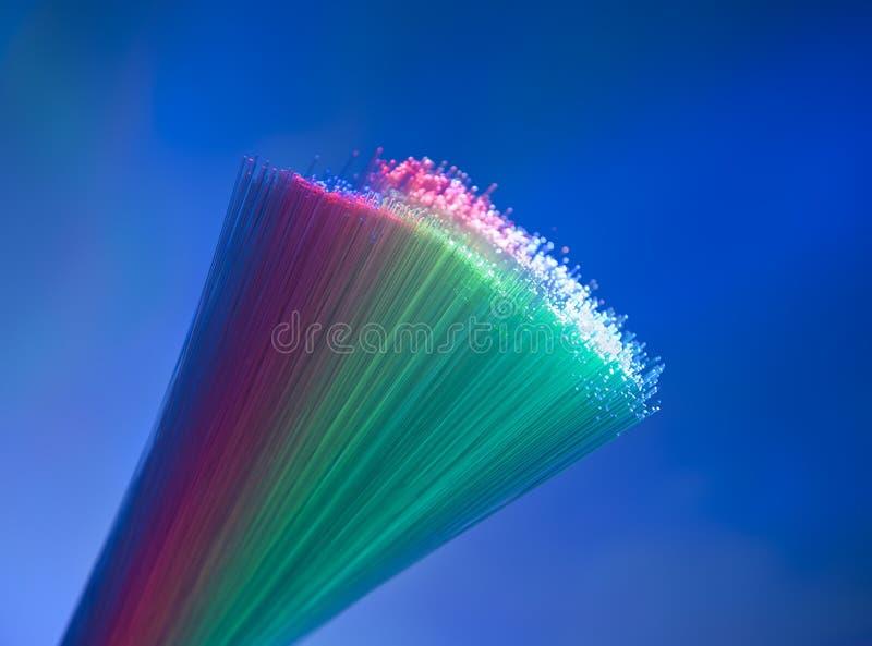 Fibres optiques photographie stock