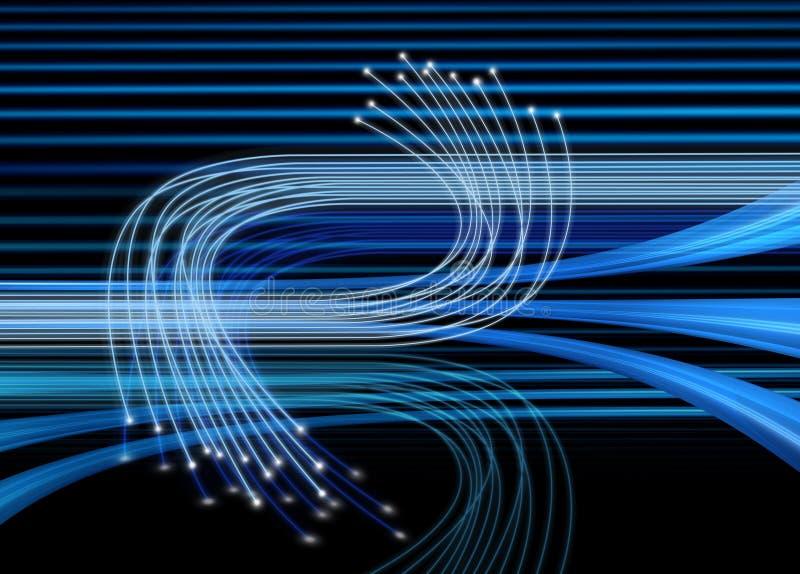 Fibres optiques dans le mouvement illustration libre de droits