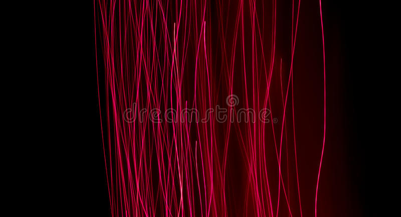 Fibres optiques rougeoyantes images stock