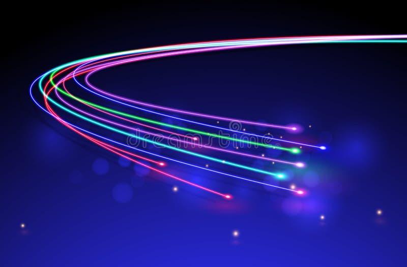 Fibres optiques Vecteur illustration libre de droits