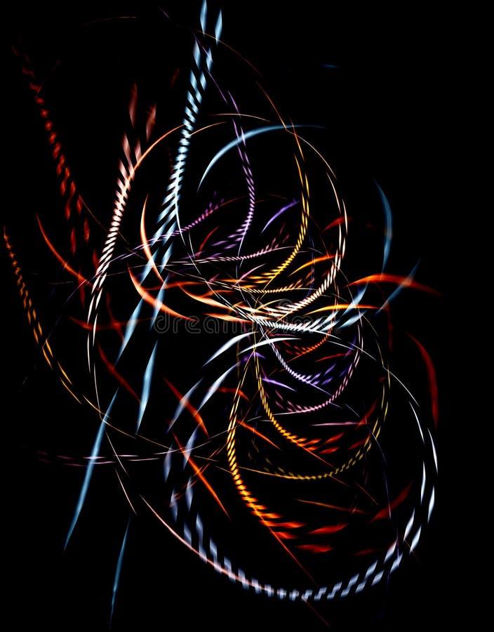 Fibres tressées colorées illustration libre de droits