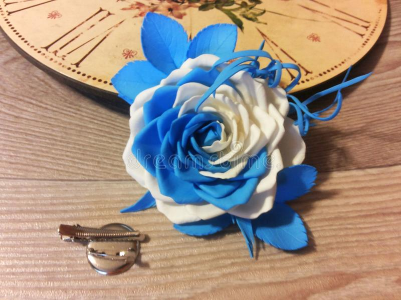 Fibula sotto forma di una rosa fotografia stock