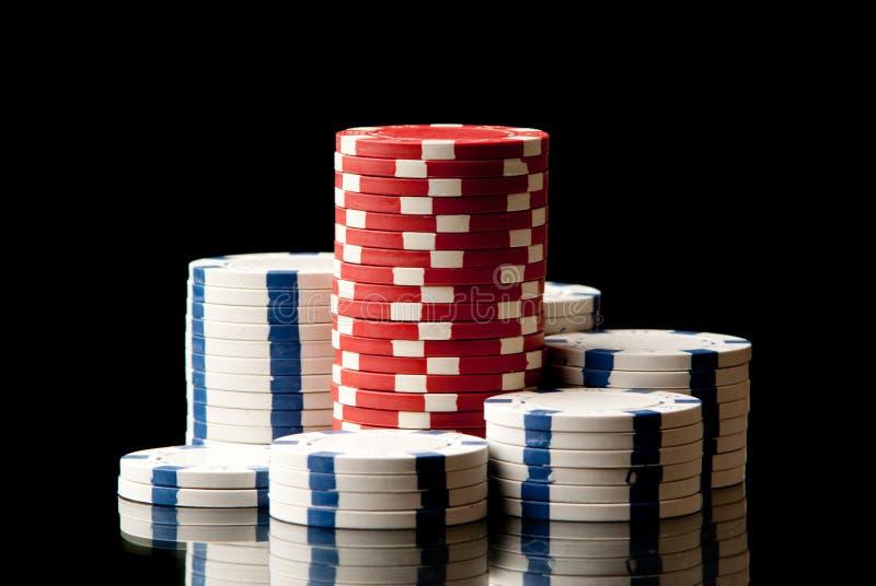 Fichas de póker fotos de archivo libres de regalías