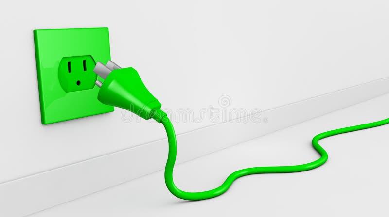 Fiche électrique illustration de vecteur