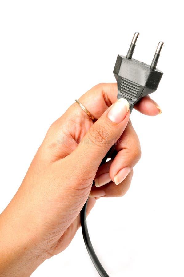 fiche électrique photographie stock libre de droits