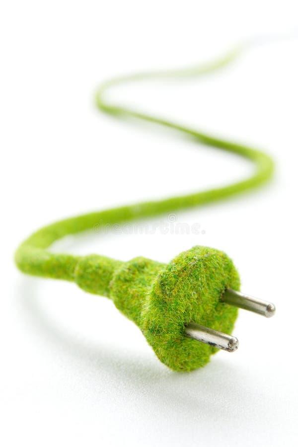 Fiche électrique d'Eco photographie stock libre de droits