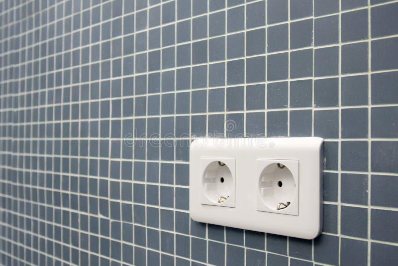 Fiche électrique européenne image stock
