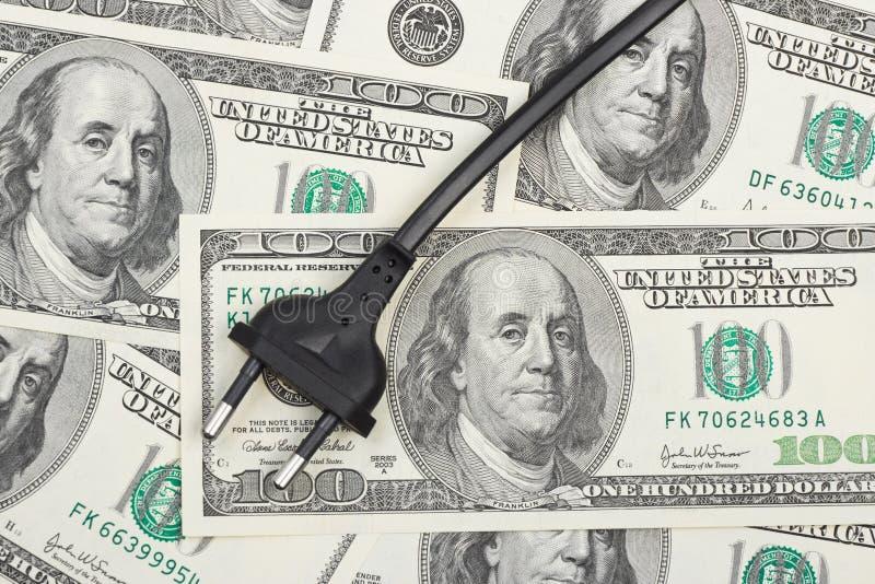 Fiche électrique sur l'argent image libre de droits
