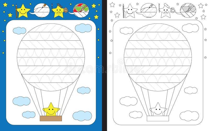 Download Fiche De Travail Préscolaire Illustration de Vecteur - Illustration du blanc, traçage: 76084781
