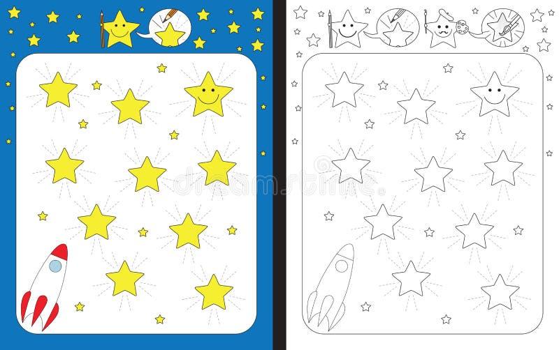 Download Fiche De Travail Préscolaire Illustration de Vecteur - Illustration du éducation, blanc: 76084808