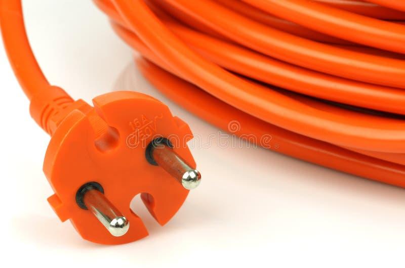 Fiche européenne de courant électrique images libres de droits