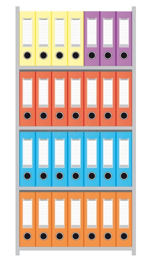 Ficheiro com dobradores de arquivo ilustração do vetor