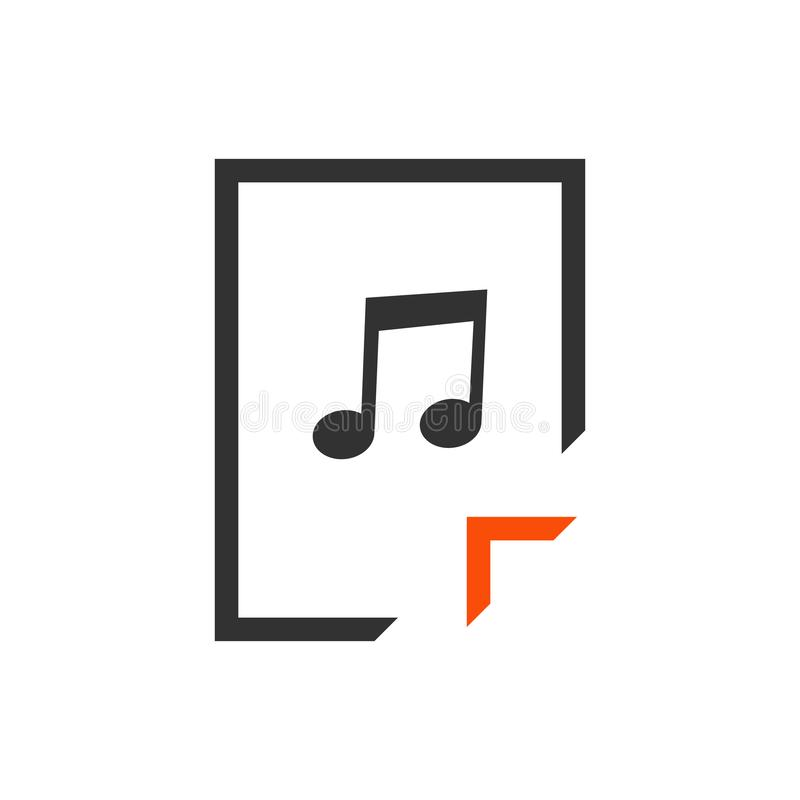 Fichero audio del MP3 de la transferencia directa con la muestra de la flecha Formato de archivo audio Transferencia de concepto  libre illustration