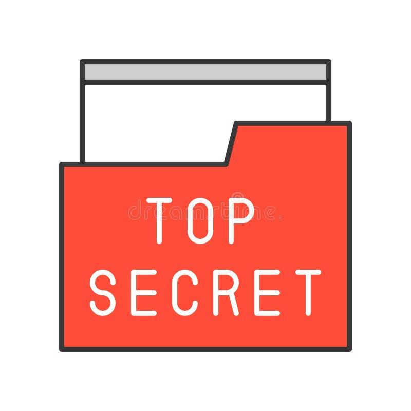 Fichero de alto secreto y carpeta, movimiento editable del icono relacionado de la policía libre illustration