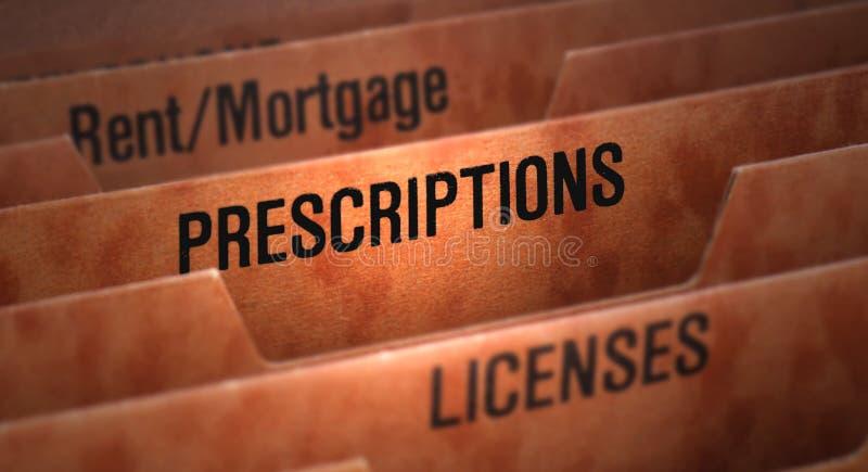 Fichero de las prescripciones en carpeta