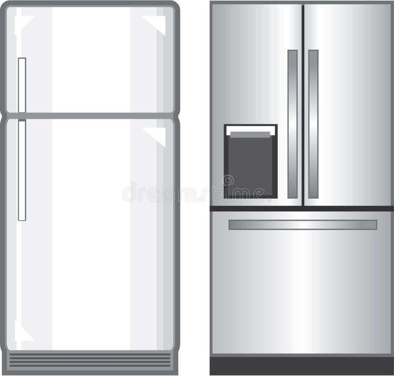 Fichero de los vectores de los refrigeradores libre illustration