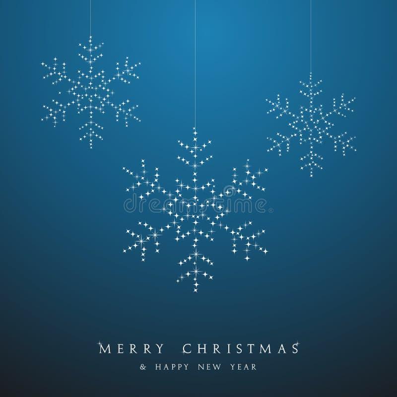 Fichero de lujo del vector de las chucherías de los copos de nieve de la ejecución de la Navidad. stock de ilustración