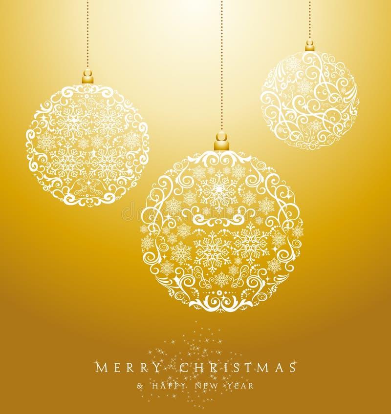 Fichero de lujo del vector del fondo EPS10 de las chucherías de la Feliz Navidad. ilustración del vector