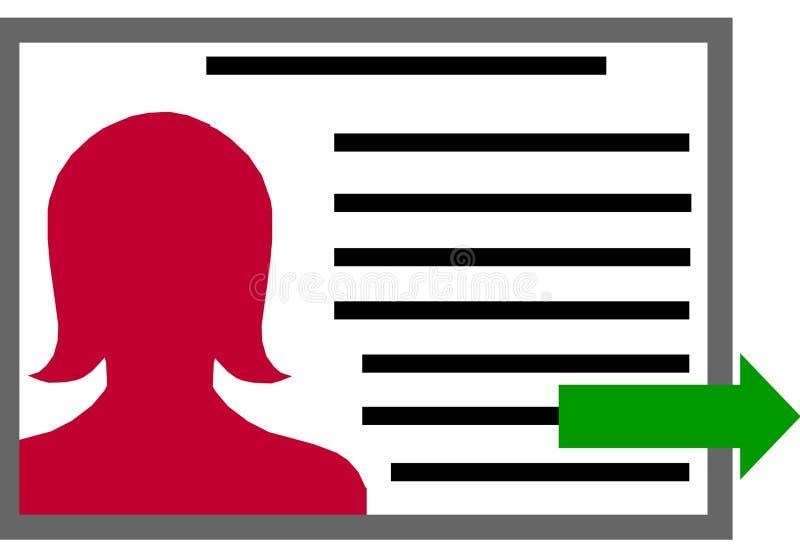 Fichero de perfil Clipart con la mujer imágenes de archivo libres de regalías