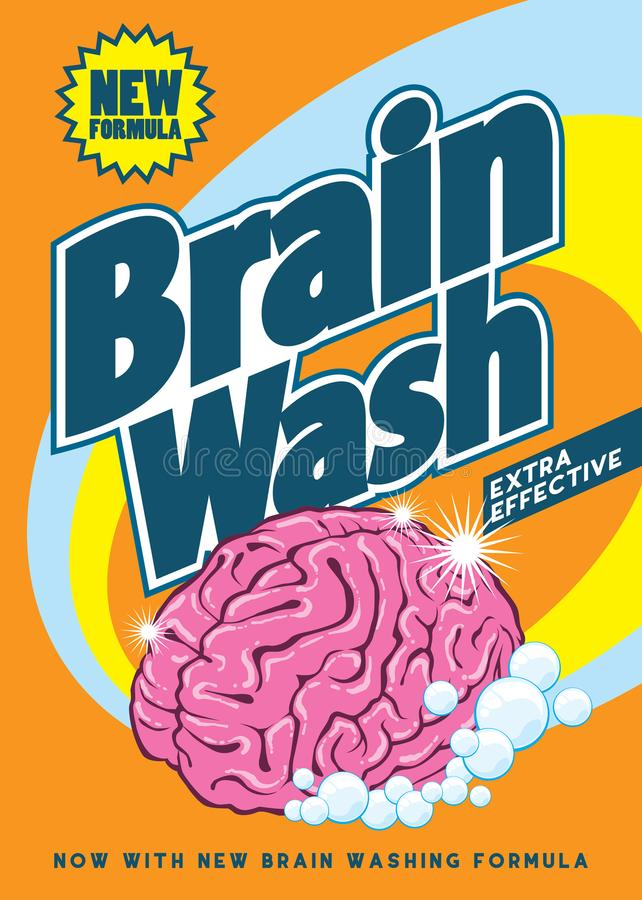 """Fichero del ejemplo de la acción †del ejemplo de la acción """"del design†de la camiseta del """"del lavado del cerebro stock de ilustración"""