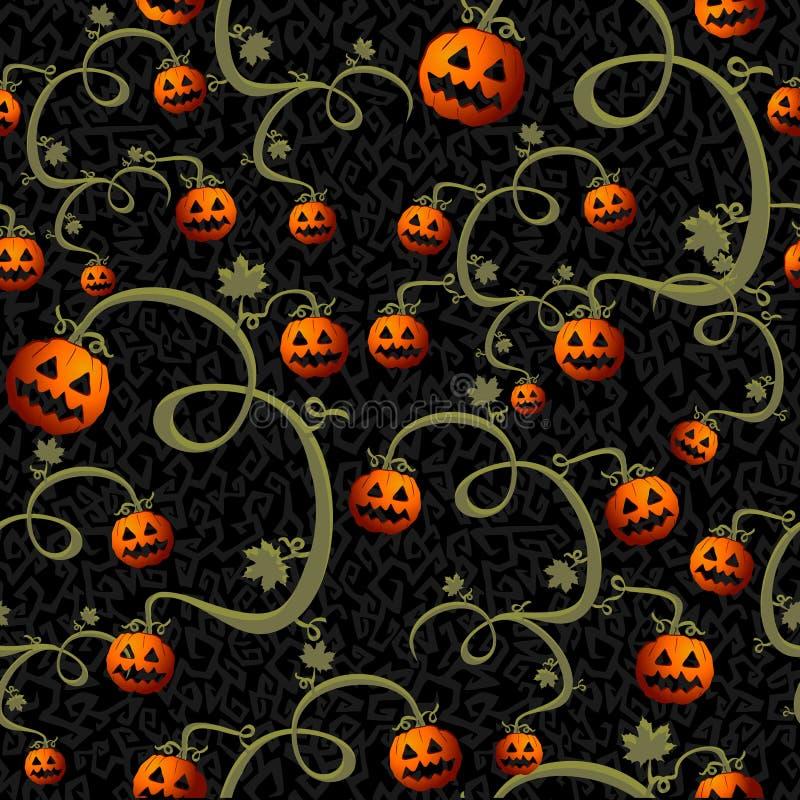 Fichero inconsútil del fondo EPS10 del modelo de las calabazas fantasmagóricas de Halloween stock de ilustración